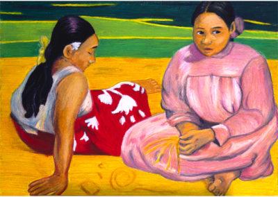 Gauguin, Femmes de Tahiti, Oil pastels